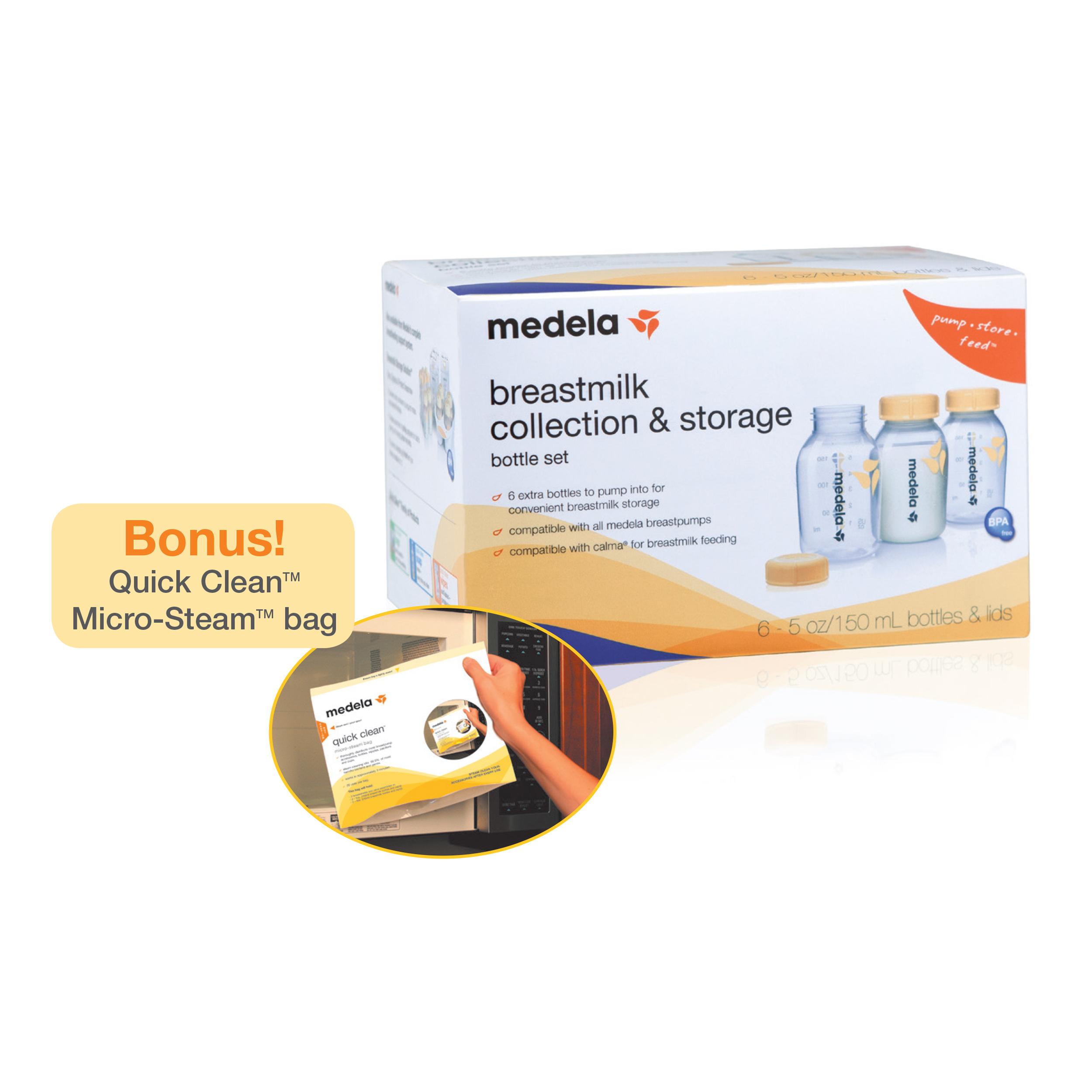 Medela Breast Milk Collection Storage Bottle 6 pack Walmartcom
