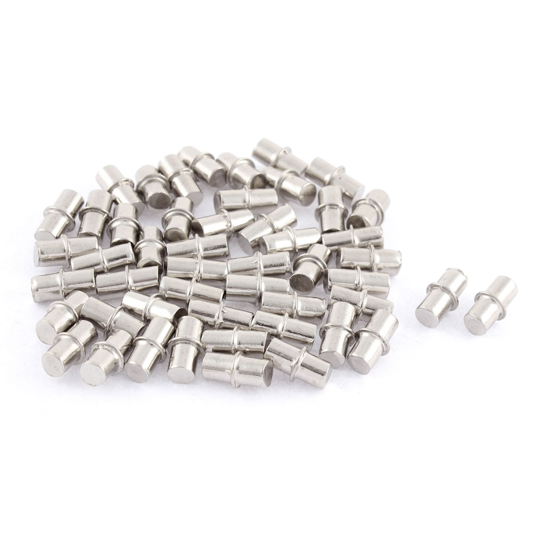 6mm x 14mm Furniture Cupboard Hardware Metal Shelf Support Pins 50 Pcs