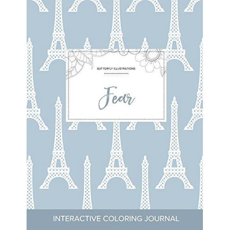 Adult Coloring Journal: Fear (Butterfly Illustrations, Eiffel Tower) - image 1 of 1