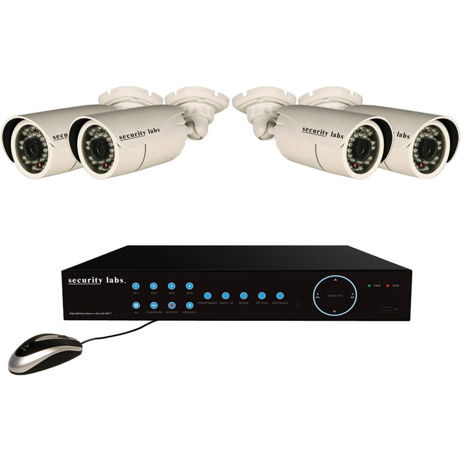 Security Labs Slm7220 4-camera 1080p HD PoE-IP 2TB Surveillance System