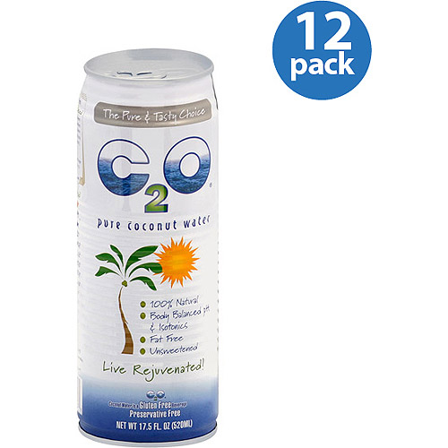 C2O Pure Coconut Water, 17.5 oz (Pack of 12)