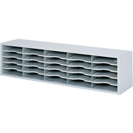 Safco, SAF7751GR, Modular Mailroom Sorter, 1 Each, Gray ()