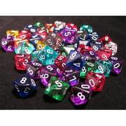 Chessex CHX29110 D10 Translucent Dice, Bag Of 50