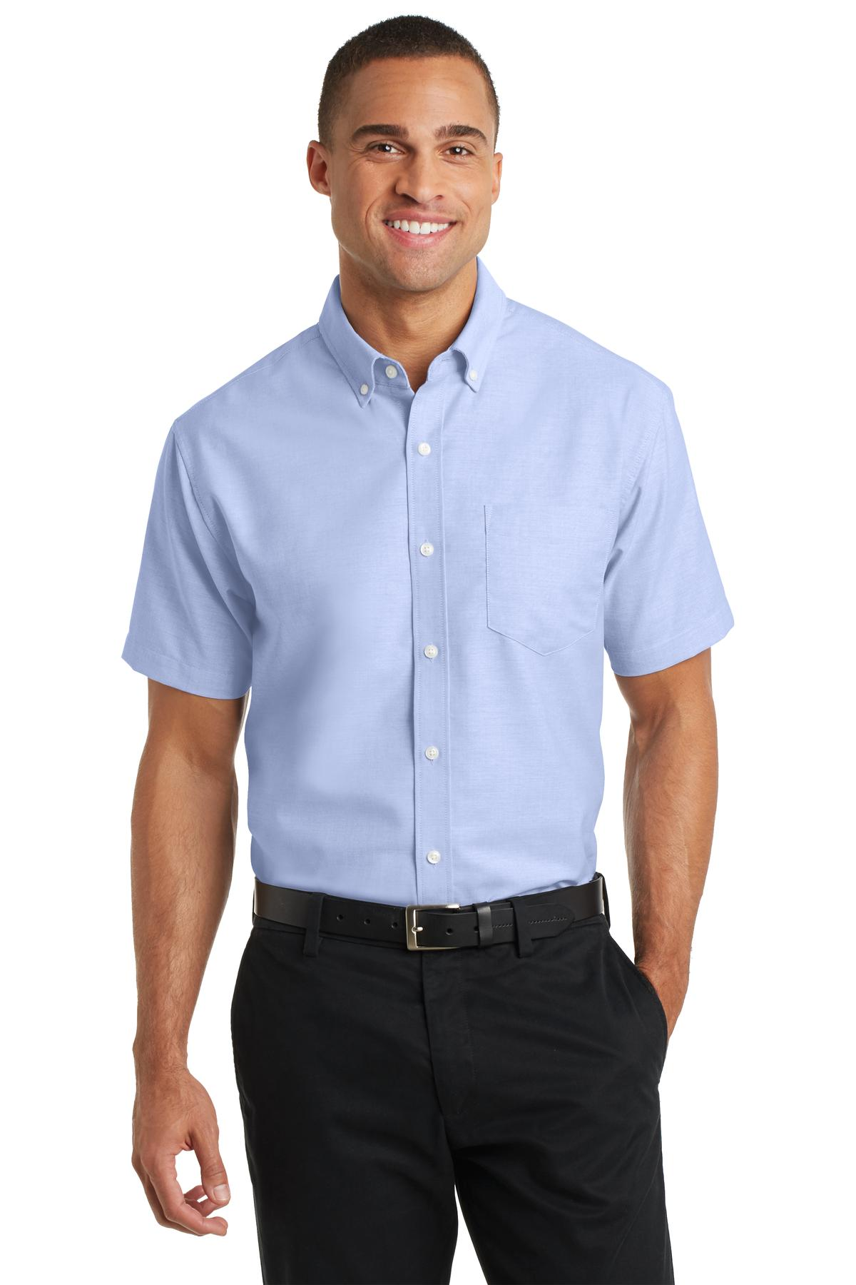 Button Down Oxford Shirts Short Sleeve