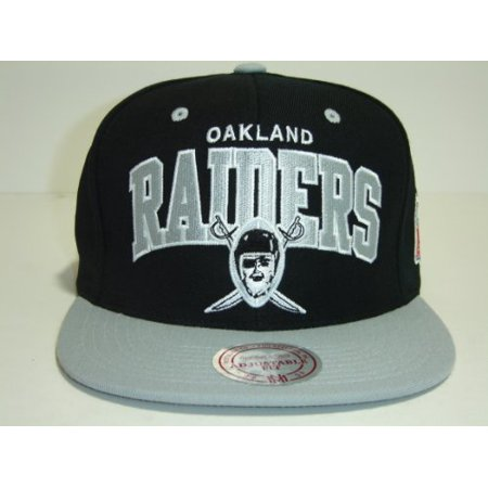 c20f349c1c4 Mitchell and Ness NFL LA Raiders Arch Black 2 Tone Retro Snapback Cap -  Walmart.com