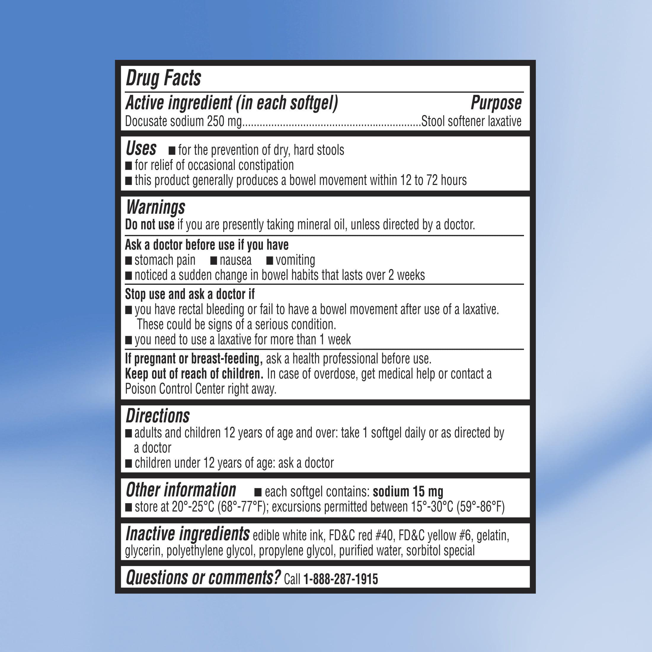 Equate Extra Strength Stool Softener Docusate Sodium