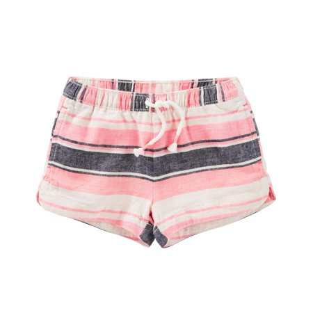 OshKosh B'gosh Little Girls' Striped Sun Shorts, 5 Kids