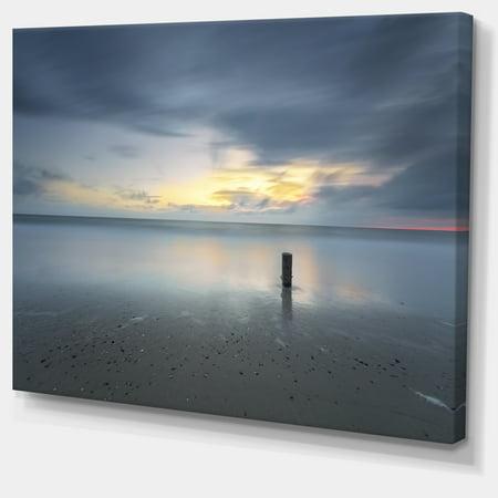 Stormy and Dark Sea Sunset - Seascape Canvas Art Print - image 1 de 3