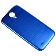 Back Cover for Samsung Galaxy S4 i9500 Blue w/ White Border