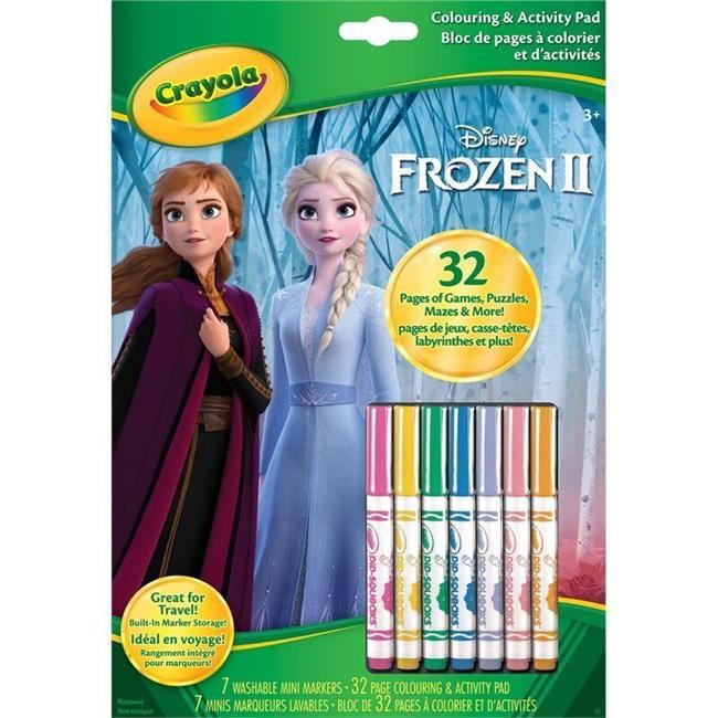 Crayola 30372875 Disney Frozen II Color & Activity Book ...