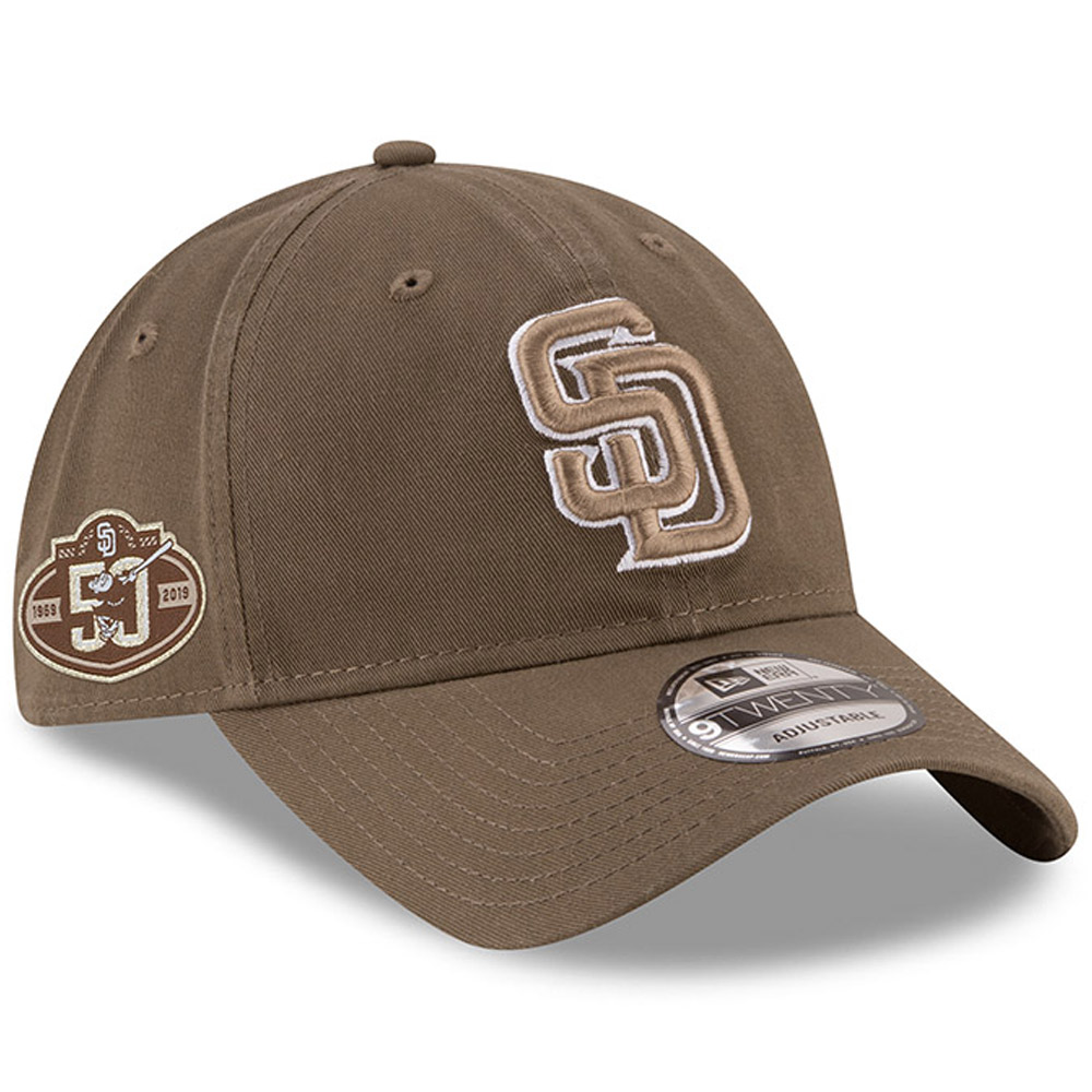 San Diego Padres New Era 50th Anniversary Replica Core Classic 9TWENTY Adjustable Hat - Brown - OSFA