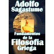 Fundamentos de la Filosofia Griega - eBook