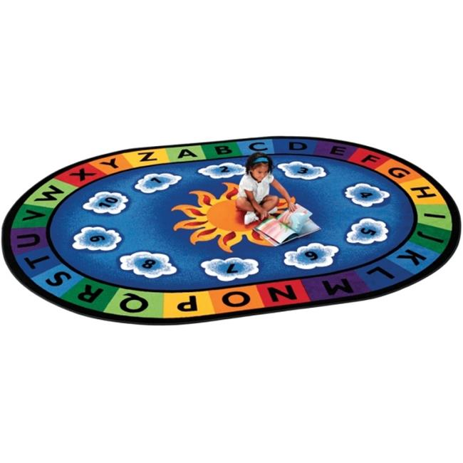 "Carpets for Kids  Sunny Day Learn and Play Rug, Oval, 6'9""x9'5"""