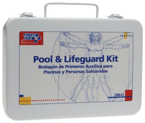 First Aid Only 280-U FAO 16 Unit Pool Lifeguard First Aid Kit, Metal Case by First Aid Only
