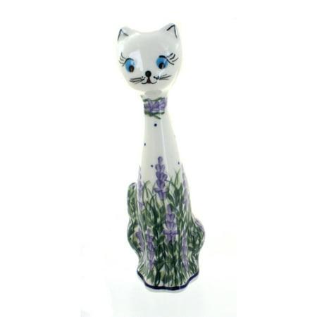 Small Polish - Polish Pottery Lavender Fields Small Cat