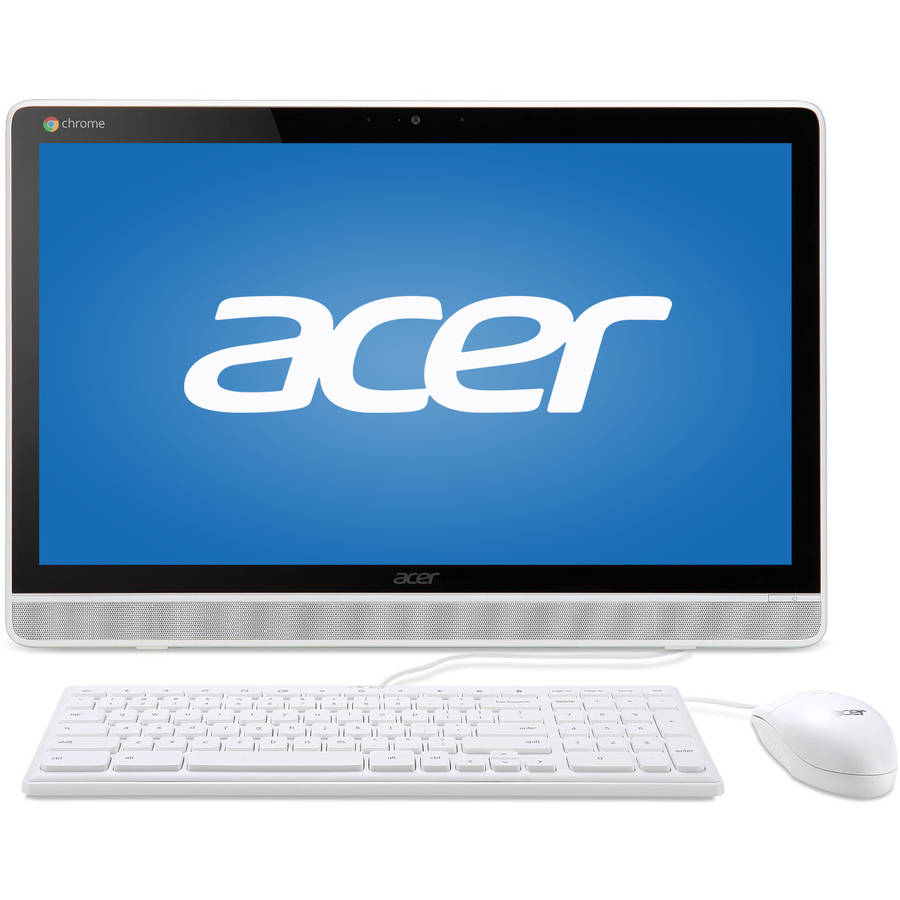 """Acer White DC221HQWMICZ All-in-One Desktop PC with NVIDIA Tegra K1 Quad-Core Processor, 4GB Memory, 21.5"""" Touchscreen, 16GB SSD and Chrome OS"""