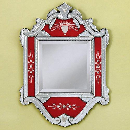 Hertha Venetian Arched Wall Mirror - 30W x 48H in.