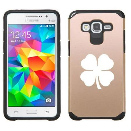 For Samsung Galaxy Grand Prime Shockproof Impact Hard Soft Case Cover 4 Leaf Clover Shamrock - 4 Leaf Clover For Sale