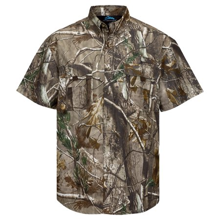 Button Cami (Tri-Mountain Men's Button Down Collar Camo Pocket)