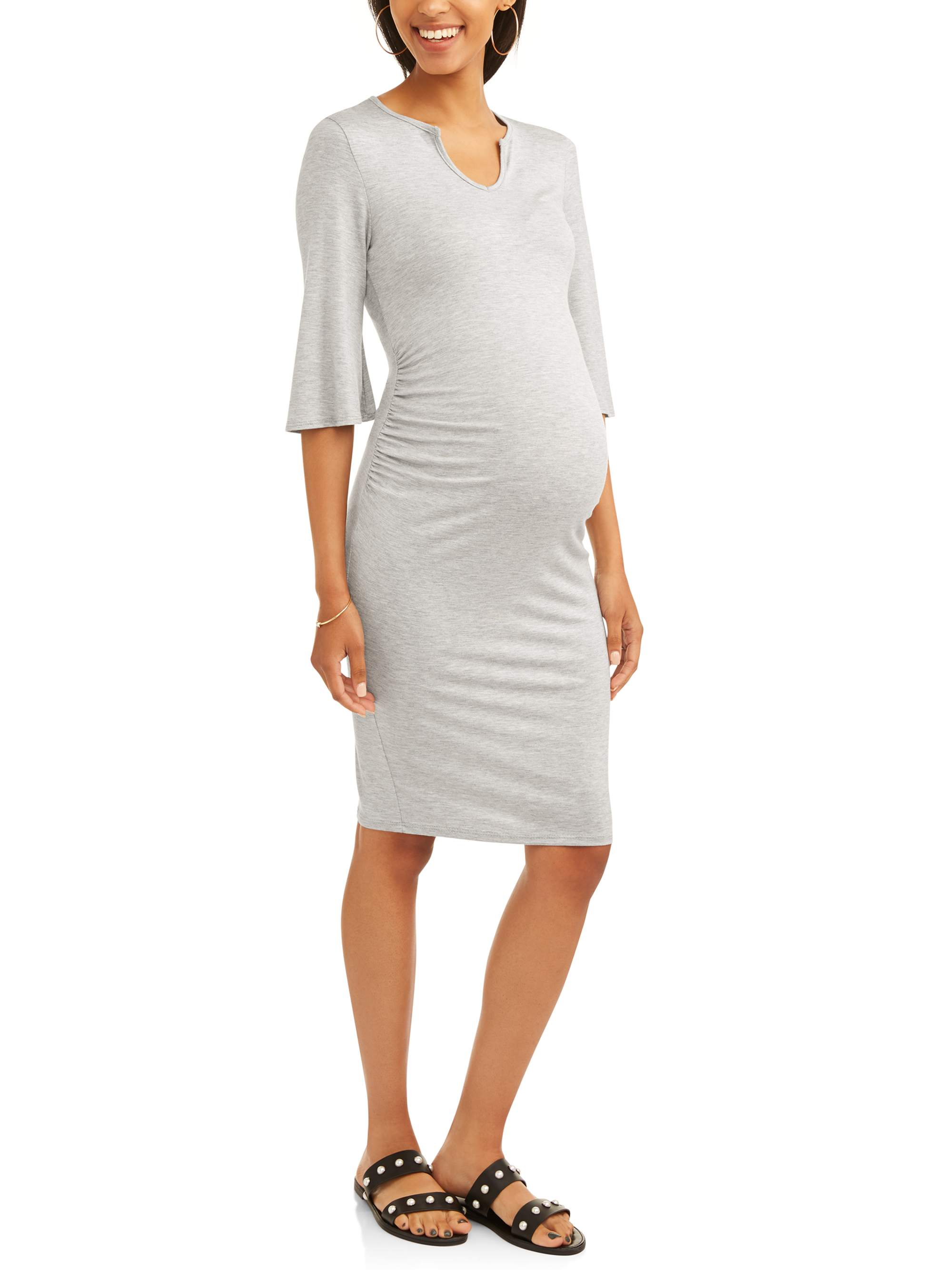 Maternity Bell Sleeve Midi Dress by Hot Shot Hk Llc