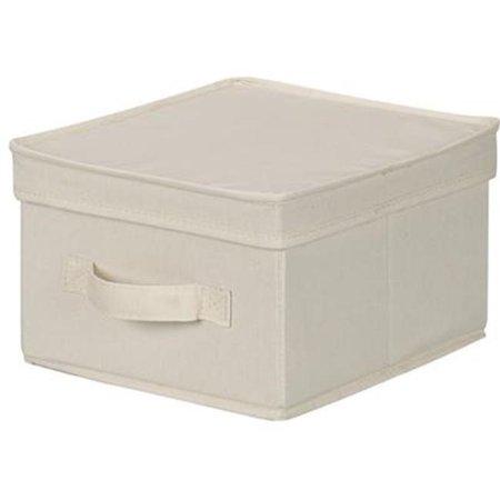 Household Essentials Medium Canvas Storage Box with Lid
