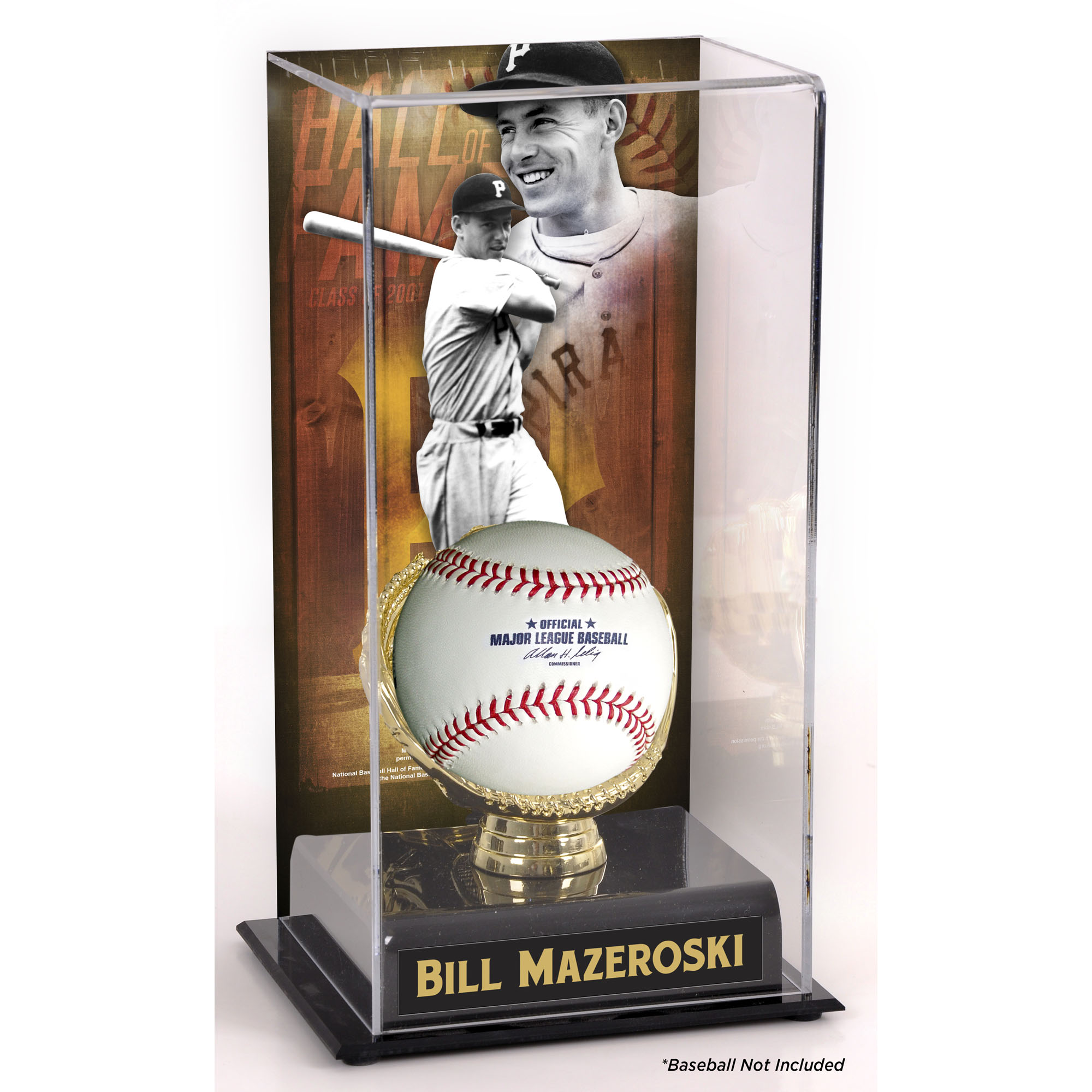 Bill Mazeroski Pittsburgh Pirates Fanatics Authentic Hall of Fame Sublimated Display Case with Image - No Size