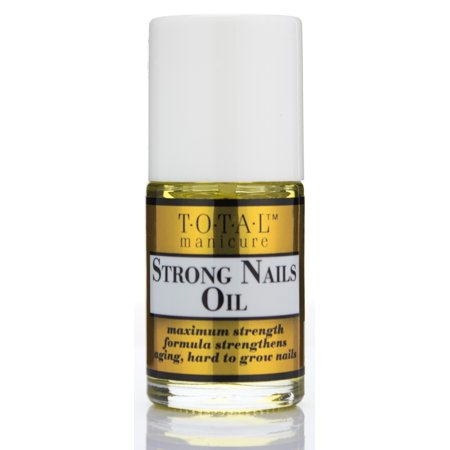 Total Manicure Strong Nails Oil. Moisturize Brittle Nails to Help Prevent Cracking,chipping and Breaking. Moisturize Cuticle Too! Easy to Use, Mess-free Applicator!