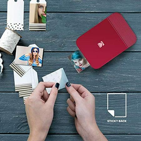 KODAK Smile Instant Digital Printer – Pop-Open Bluetooth Mini Printer for  iPhone & Android – Edit, Print & Share 2x3 ZINK Photos w/FREE Smile App –