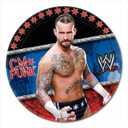 Wwe Themes (WWE Wrestling Small Paper Plates)