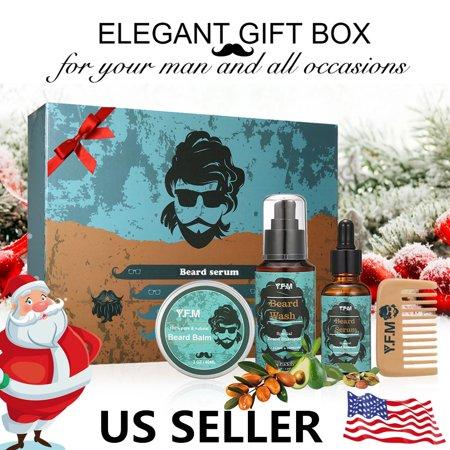 Beard Care Kit, Great for Dry or Wet Beards, Beard Kit Includes: Beard  Shampoo+Beard Oil+Beard Balm+Beard Comb, Beard Gift Set - Walmart com