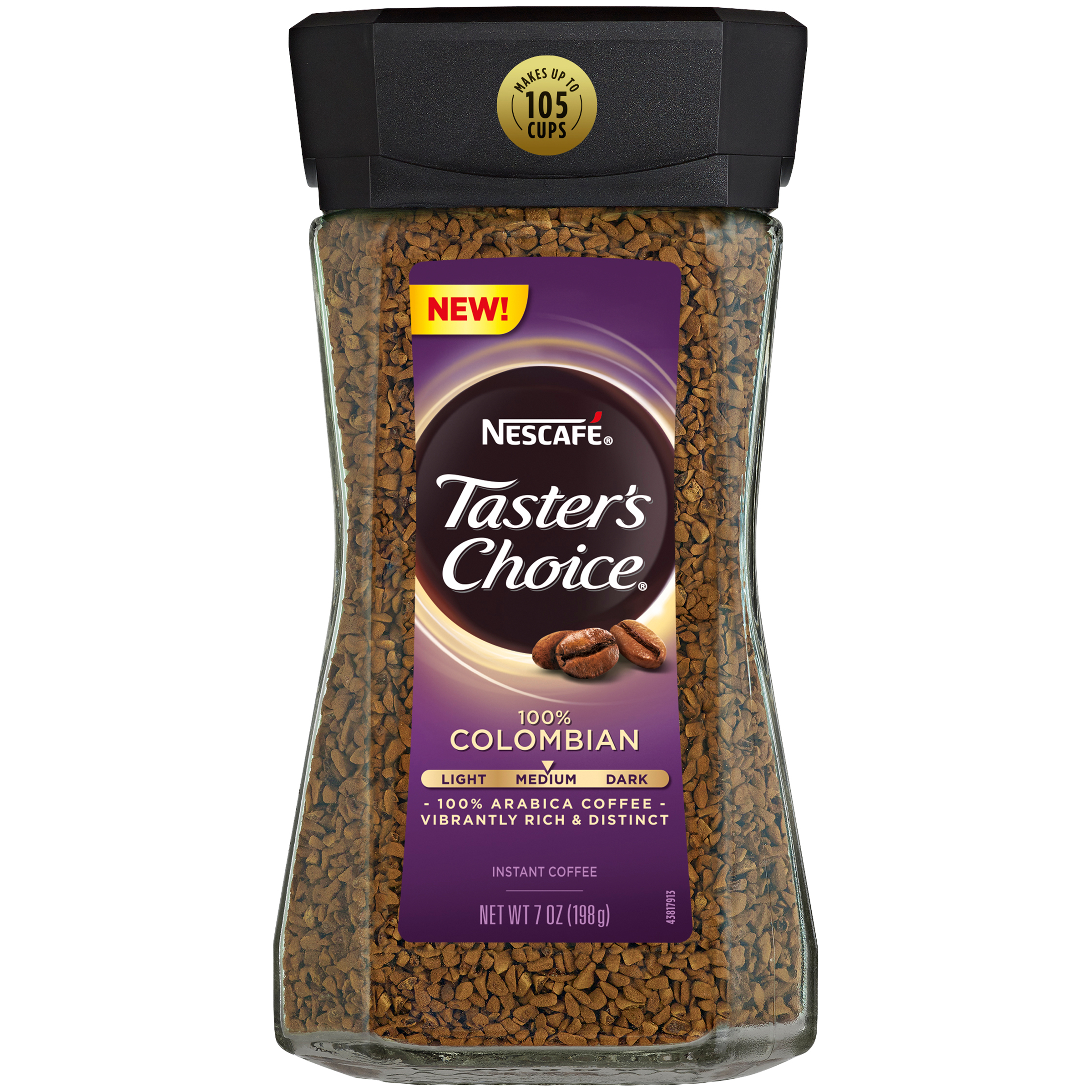 NESCAFE Taster's Choice 100% Colombian Instant Coffee 7 oz. Jar