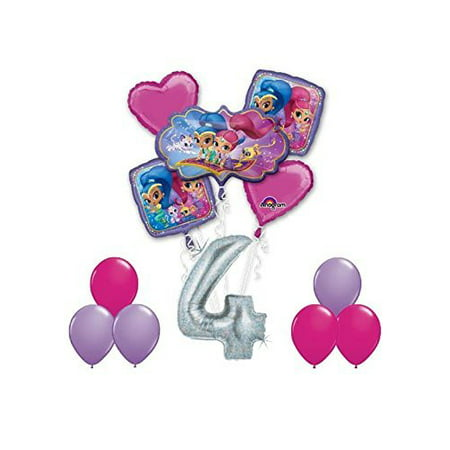 SHIMMER AND SHINE Happy 4th Birthday Party 12 pc Balloons Decoration