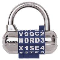 Master Lock, MLK1534D, Alphanumeric Combination Locks, 1 / Each, Assorted