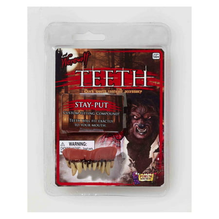 Werewolf Teeth Halloween Costume Accessory - Tooth Halloween Costume