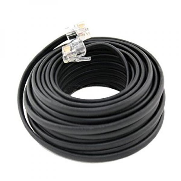 Wideskall 100 Feet RJ-11 Modular Connector 4 Conductor Cable Telephone Cord ...