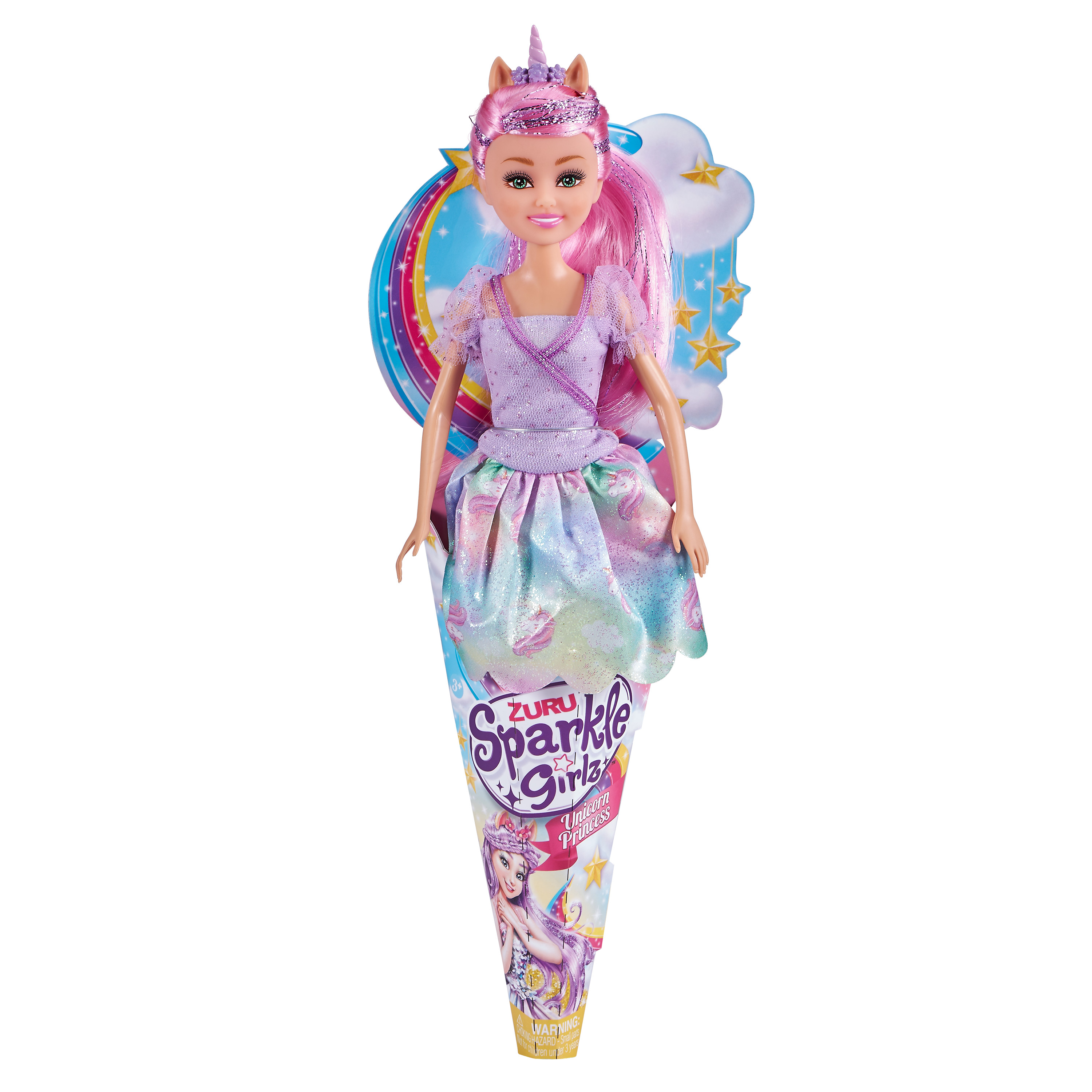 Zuru Sparkle Girlz Unicorn Princess Cupcake Doll 4.5 inch Mini Doll No.10094B