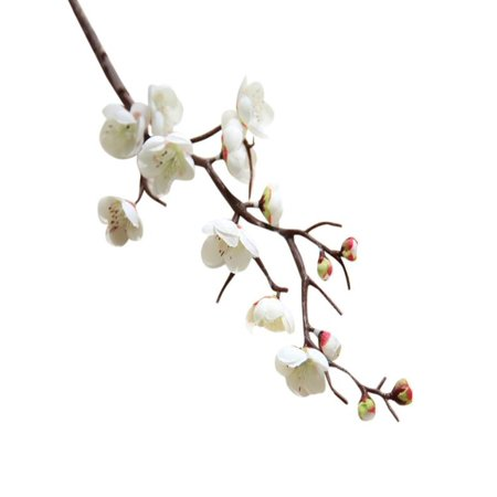 OkrayDirect Artificial Silk Fake Flowers Plum Blossom Floral Wedding Bouquet Party Decor WH