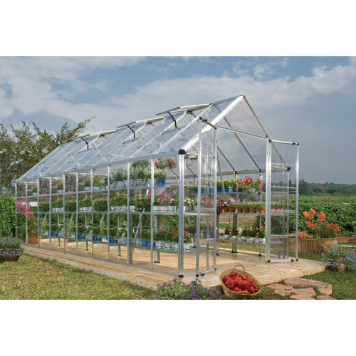 Palram Snap & Grow 8 Ft. W x 20 Ft. D Greenhouse by Poly-Tex