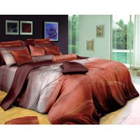 Swanson Beddings Sunset 3-Piece Luxury 100% Cotton Bedding Set: Duvet Cover and Two Pillow Shams (Queen)