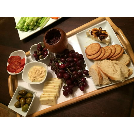 Canvas Print Cheese Platter Food Appetizer Stretched Canvas 10 x