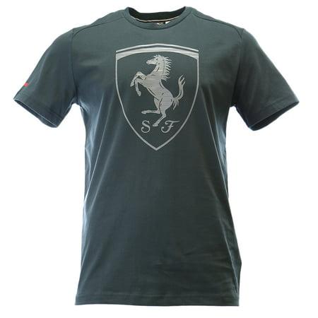 Puma Ferrari Big Shield Logo Athletic Tee Fashion T Shirt   Mens