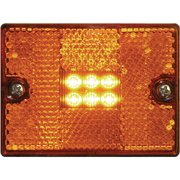 Seachoice 52891 LED Square Stud-Mount Clearance/Marker Light