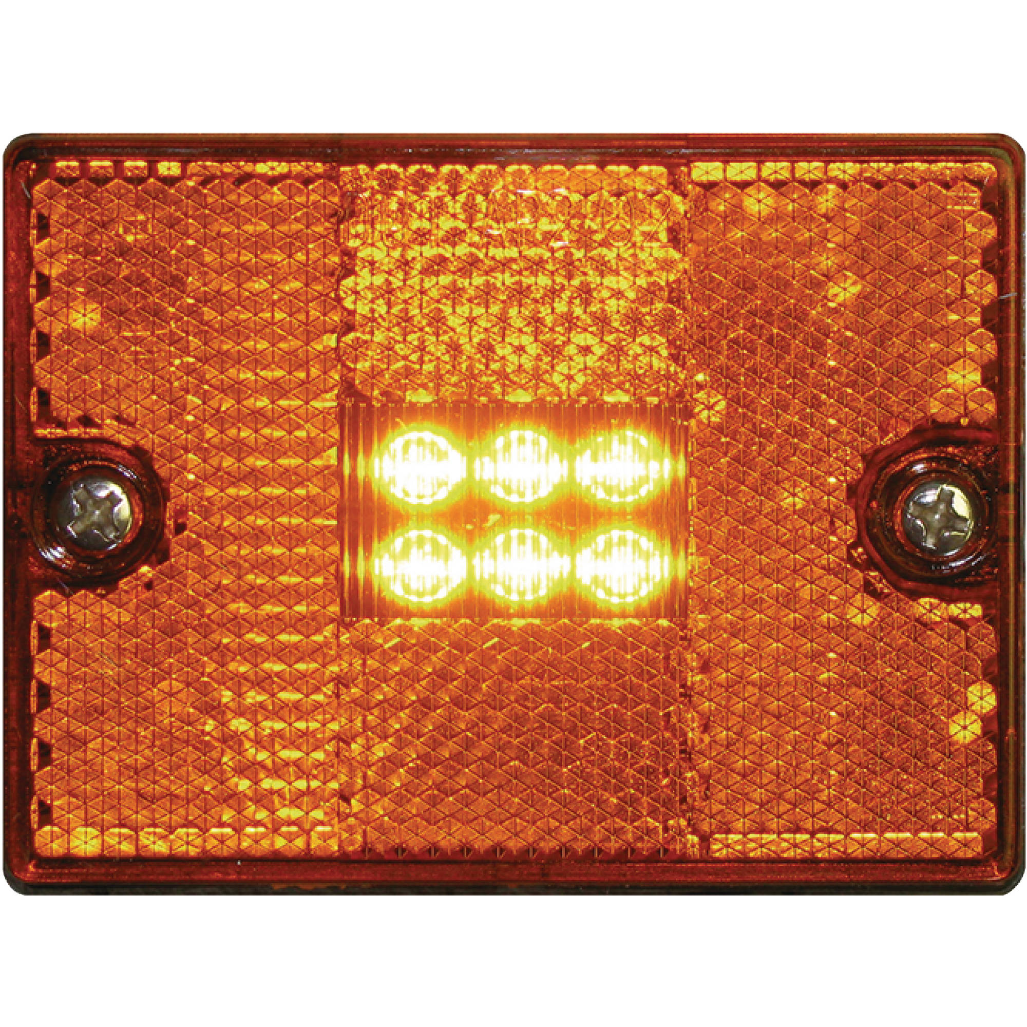 Seachoice 52891 LED Square Stud-Mount Clearance/Marker Light