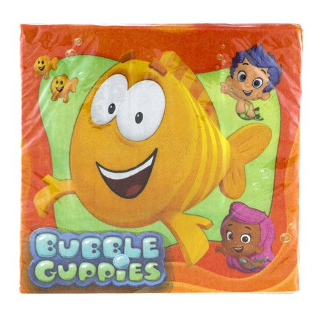 Bubble Guppies Double-Sided Party Paper Napkins, 16ct - Bubble Guppies Party Decor