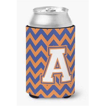 Carolines Treasures CJ1060-ACC Letter A Chevron Blue & Orange No.3 Can or Bottle Hugger - image 1 de 1