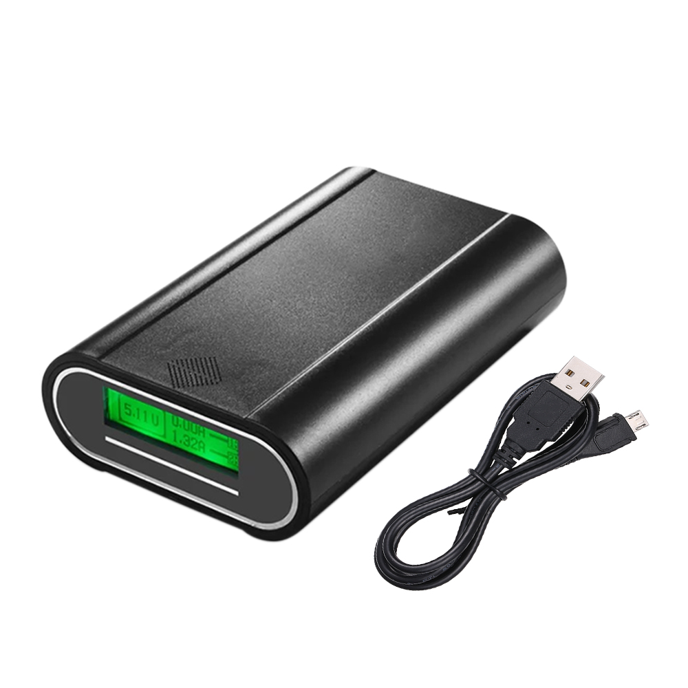 DC5V 10W 3 Slots 18650 Rechargeable Battery Charger Dual USB Charging Port LCD Display