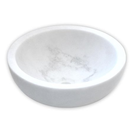 Eden Bath EB-S003GW-H Small Vessel Sink Bowl, Honed White Marble - image 1 of 1