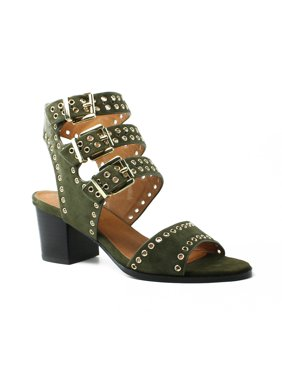 3c3689cc722b Product Image Sol Sana Womens Green Ankle Strap Heels Size 7 New