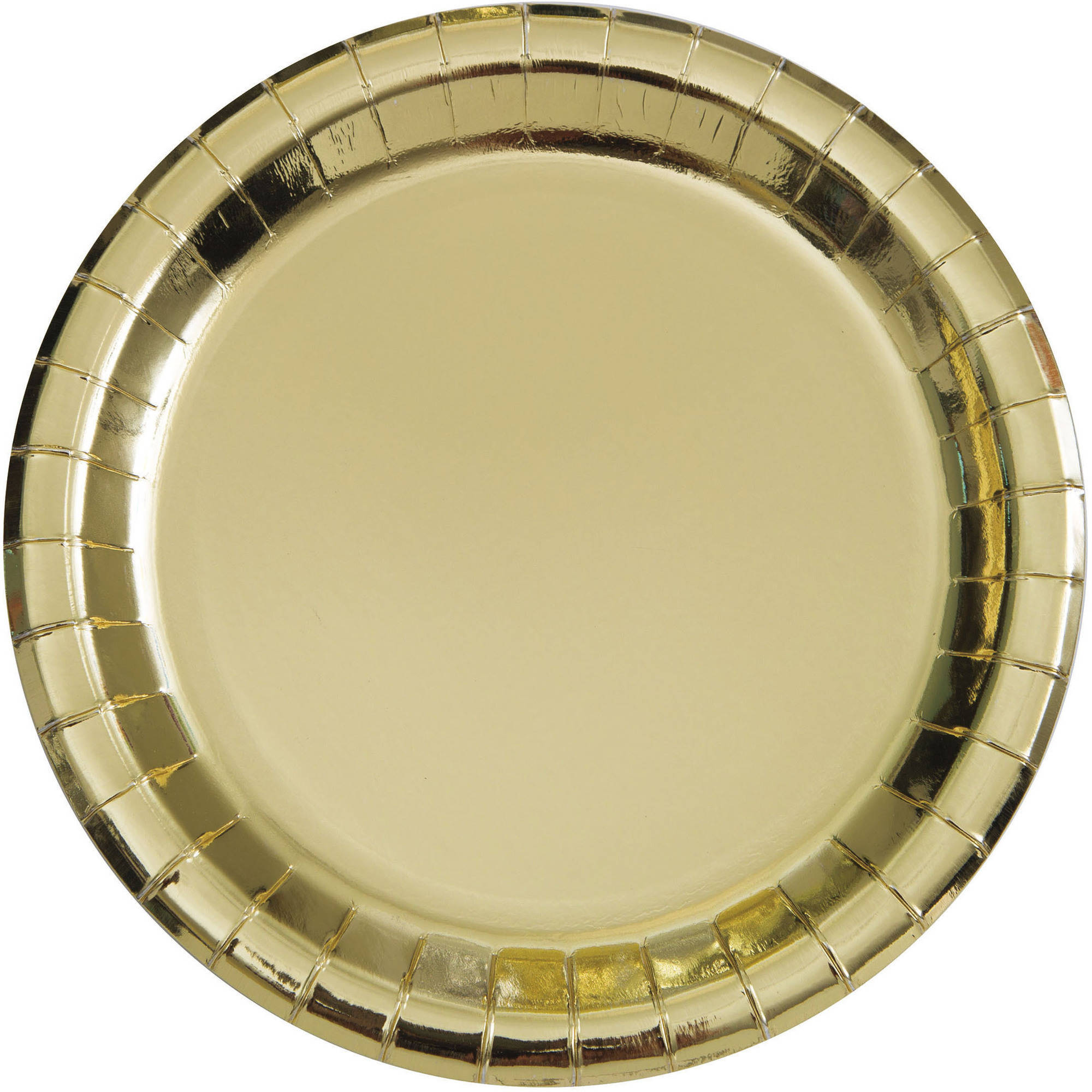 (3 Pack) Paper Plates, 7 in, Gold Foil, 8ct
