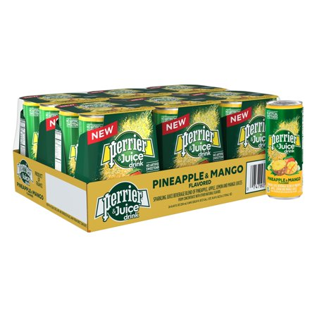Perrier & Juice, Pineapple and Mango Flavor, 8.45 Fl Oz. Cans (24